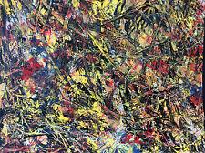 Sanchez Mendoza Art abstrait peinture sur toile cachet atelier authentifié