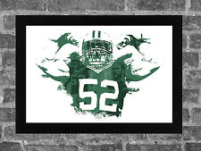 CLAY MATTHEWS spatter-style art print/poster GREEN BAY PACKERS FREE S&H