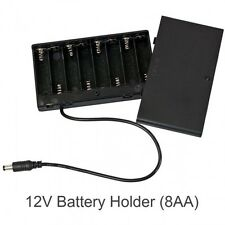 8 x AA 1.5V 2A Battery Holder Storage Box WITH COVER AND ON / OFF + DC jack. UK
