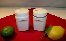 Tupperware ALMOND ~Rotate lid Salt & Pepper Shakers ~Shake Pour Seal