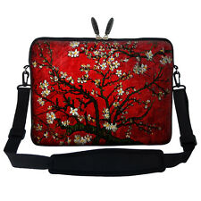 "17.3"" Laptop Computer Sleeve Case Bag w Handle & Shoulder Strap Cherry Blossom"