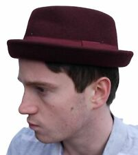 Rude Boy / Ska Pork pie felt hat - Maroon - Size 57cm (Medium)