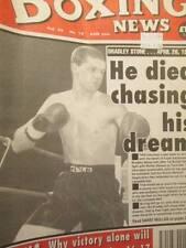 3 Issues UK Boxing News Magazine May 6, 13, 20, 1994-Stone/Lewis/Chavez/Oyebola/