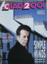 CIAO 2001 19 1989 Simple Minds Nick Cave Fixx Tom Robinson Green On Red Pankow