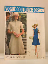 Vtg Vogue Couturier Pattern Design Sybil Connolly 1048 Size 10 NY Bust 32 1/2""