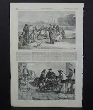 HARPER'S WEEKLY Single Page S3#002 July 1873 The Amazon - Shooting Monkeys