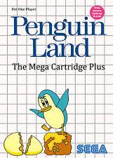 Penguin land sega master system encadrée Imprimer (man cave Photo Poster Art Jeu)
