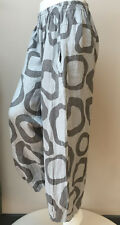 """QUALITY ITALIAN Boho Trousers STYLE LAGENLOOK MADE IN ITALY L/XL UP TO 42""""W OSFA"""