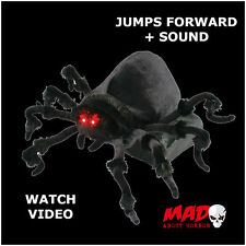 SCARY! Table top Jumping Spider- Animated Halloween Prop/Decoration MOVING+SOUND
