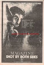 MAGAZINE Shot By both Sides 1978 UK Press ADVERT 10x7 inches