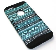 for iPhone 6 Plus Cool Blue Tribal Hard & Soft Hybrid Rubber Koolkase SKin Case