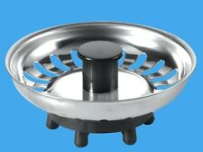 Twin Pack  McAlpine Kitchen Sink Strainer Waste Plugs BSK-TOP Stainless Steel