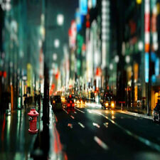 City Night Street 10'x10' CP Backdrop Computer printed Scenic Background S-272