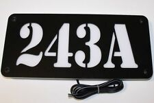 CUSTOM LED BACKLIT ADDRESS SIGN ILLUMINATED HOUSE NUMBER LIGHTED ADDRESS PLAQUE