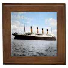 RMS TITANIC 1912 COLOUR CERAMIC FRAMED TILE - WALL DECO, ART - GREAT GIFT IDEA