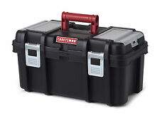 Craftsman 16 Inch Tool Box with Tray - Black/Red Free Shipping New
