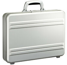 "Zero Halliburton Slimline Collection 3"" Slim Attache Briefcase - Silver"