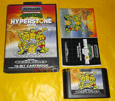 TEENAGE MUTANT HERO TURTLES THE HYPERSTONE HEIST Sega Mega Drive PAL COMPLETO AJ