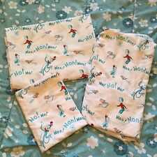 DR. SEUSS CAT IN THE HAT Twin Bed Sheet Set - Quilting Material - Vintage