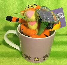 Applause Winnie The Pooh Tigger Plush & Coffee Cup Set Mug Bees Butterfly - NEW
