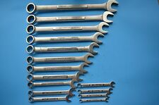 "VINTAGE 15 PIECE CRAFTSMAN -V- SAE COMBINATION WRENCH SET 1/4"" -1 1/16"" USA"