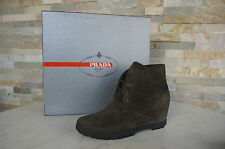 PRADA Size 38 Ankle Boots boots Shoes Lace up haemathit new