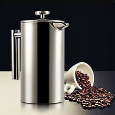 Stainless Steel Double Wall French Coffee Press Maker Plunger 350ml Coffee Pot