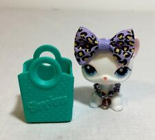 Littlest Pet Shop #64 White-Pink Short Hair Cat, Blue Eyes.