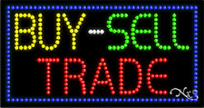 """NEW """"BUY SELL TRADE"""" 32x17 SOLID/ANIMATED LED SIGN w/CUSTOM OPTIONS 21057"""