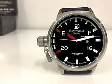 Chotovelli Mens Italian Navy Watch uboat homage Automotive dial Black Strap 70-1