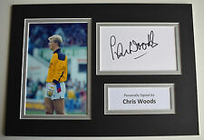 Chris Woods Signed Autograph A4 photo display Rangers Football AFTAL & COA