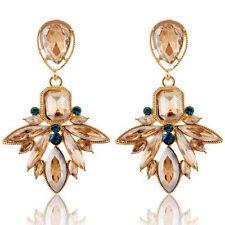 1 Pair Women Vintage Rhinestone Crystal Flower Earrings Ear Studs Jewelry Gift