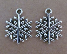20pc Tibetan Silver Dangle Charm CHRISTMAS SNOWFLAKE Beads Accessories B044P
