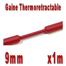 Gaine Thermo Rétractable 2:1 - Diam. 9 mm - Rouge - 1m