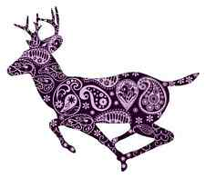 Abstract Purple Deer Iron on transfer A5 size