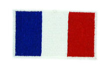 FLAG PATCH PATCHES FRANCE FRENCH for BACKPACKS IRON ON EMBROIDERED