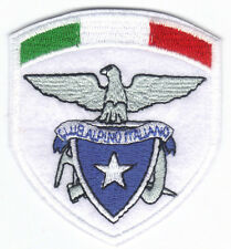 [Patch] CAI CLUB ALPINO ITALIANO con TRICOLORE cm 6,5x7,5 toppa ricamata -075t