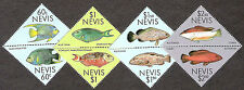 NEVIS 1987 Fish set Fish Stamps Setenant Mint NH