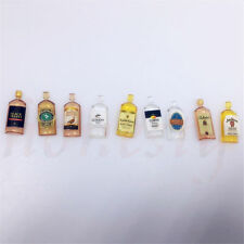 6pcs Dollhouse Miniature Wine Whisky Bottles Shop Pub Bar Drinks Accessory