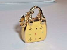 14K YELLOW GOLD 3D DESIGNER ROSATO PURSE HANDBAG CHARM PENDANT