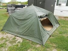 MILITARY SURPLUS 10x10 SOLDIER CREW TENT  ARMY  FREE STANDING  CAMPING  HUNTING