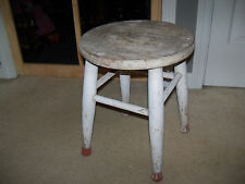 Antique Wood Milking Stool Primitive Country Rustic Farm Side Table