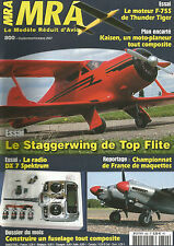 MRA N°800 PLAN : KAISEN / MOTEUR F-75S / STAGGERWING / RADIO DX 7 SPEKTRUM