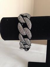 """NEW Melania Limited Edition Pave' Style Curb Link 8"""" Bracelet"""