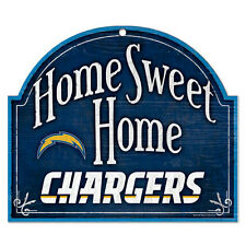 """SAN DIEGO CHARGERS HOME SWEET HOME ARCHED WOOD SIGN 10""""x11"""" BRAND NEW WINCRAFT"""