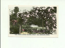 ROSE GARDEN & HARDING MEMORIAL STANLEY PARK, VANCOUVER, BC REAL PHOTO POSTCARD