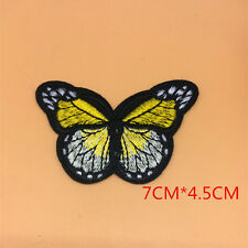 1 Butterfly Applique Embroidery Clothes Patch Decoration Sew On Patches Lace v