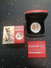 2016 $1 Year of the Monkey 1oz Colour Silver Proof Coin Perth Mint