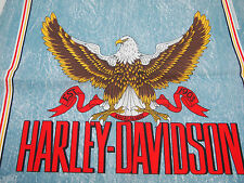 "NOS Harley Davidson Bue Bandana with Bald Eagle MADE IN USA 22"" x 22"""
