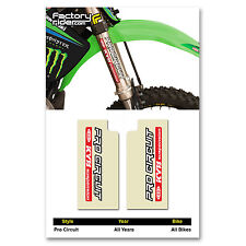 PRO Circuit KYB Fork STICKERS Mx Dirt Bike GRAPHICS  fit all Motocross Bikes!